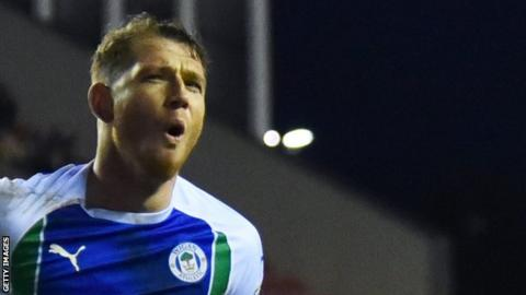 Wigan Athletic forward Joe Garner joined the Latics from Ipswich Town in August