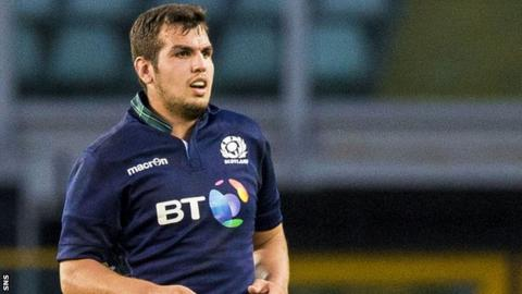 Stuart McInally in action for Scotland