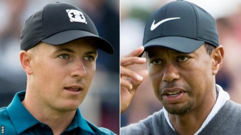 Jordan Spieth and Tiger Woods