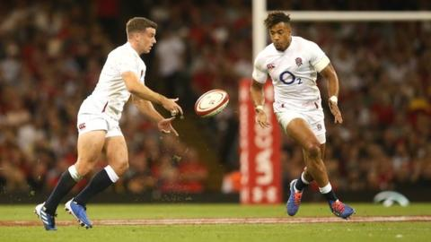 Owen Farrell George Ford and Anthony Watson
