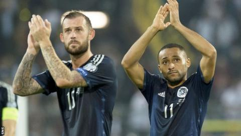 Scotland pair Steven Fletcher (left) and Ikechi Anya are out of Celtic's price range, says assistant John Collins