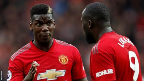 Manchester United midfielder Paul Pogba and striker Romelu Lukaku