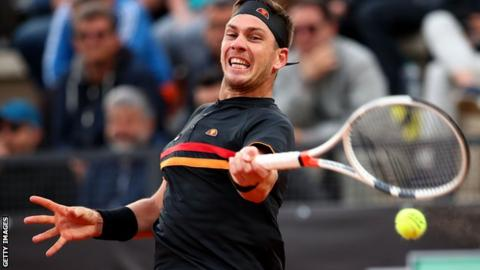 Cameron Norrie takes a shot at the Italian Open