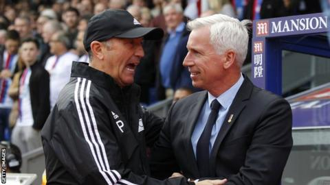 Tony Pulis and Alan Pardew