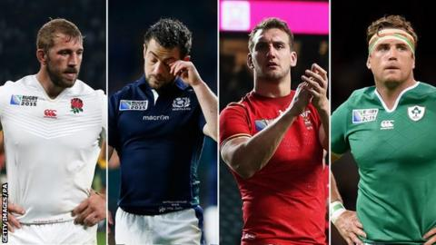 Chris Robshaw, Greig Laidlaw, Sam Warburton and Jamie Heaslip