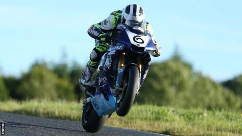 William Dunlop in action on the Yamaha R1 at the Ulster Grand Prix