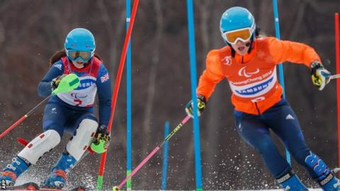 Skier Menna Fitzpatrick wins record-breaking gold medal