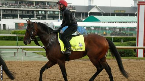 Mendelssohn during a morning workout at Churchill Downs