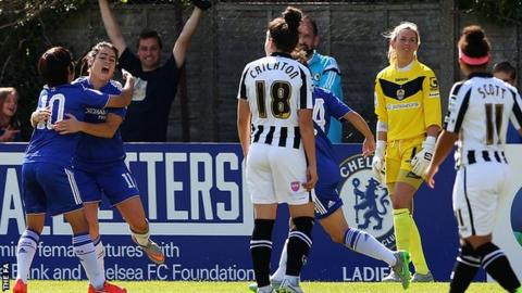 Claire Rafferty (second left) celebrates her goal