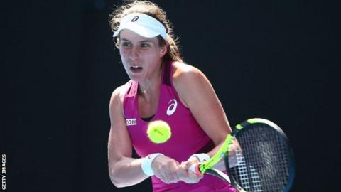 Tennis player Johanna Konta