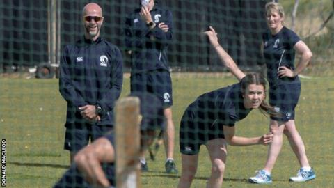 Scotland train for the matches against the Netherlands and the United States