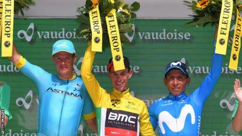 Richie Porte on Tour de Suisse podium