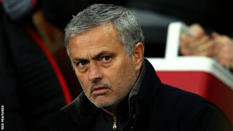 EPL: Mourinho tells Manchester United players to