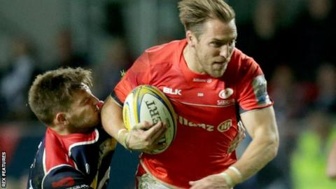 Chris Wyles scores Saracens' third try
