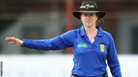 Australian Claire Polosak becomes first woman to umpire men's ODI