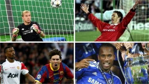 Man united news  football news  football transfer and rumours Photos of previous Champions League finals