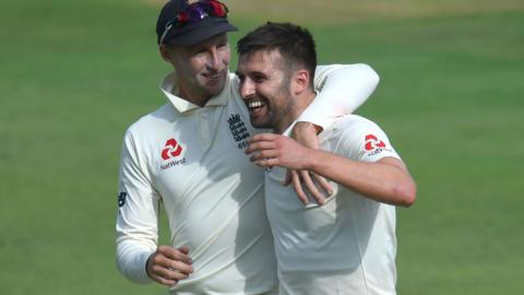 Joe Root and Mark Wood