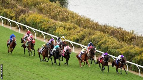 Mendelssohn wins the Juvenile Turf race at the Breeders' Cup