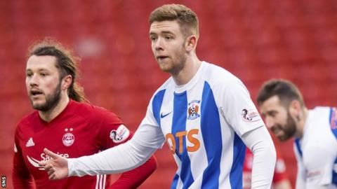 Kilmarnock's Stuart Findlay in action against Aberdeen