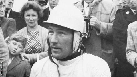 Stirling Moss in his racing days