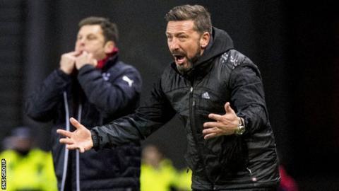 Aberdeen manager Derek McInnes takes his team to Ibrox