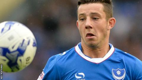 Portsmouth striker Conor Chaplin