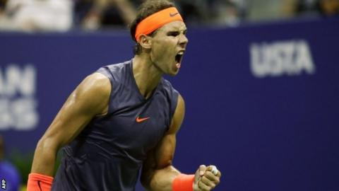 Del Potro advances after knee trouble forces Nadal to concede
