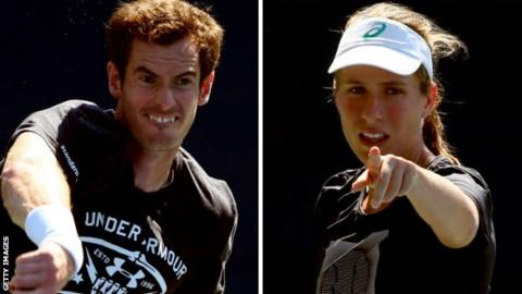 Andy Murray and Jo Konta