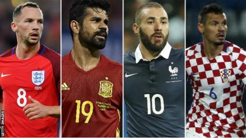 Danny Drinkwater, Diego Costa, Karim Benzema, Dejan Lovren