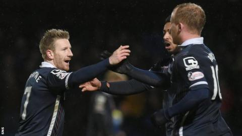 Michael Gardyne (left) is now Ross County's highest scorer
