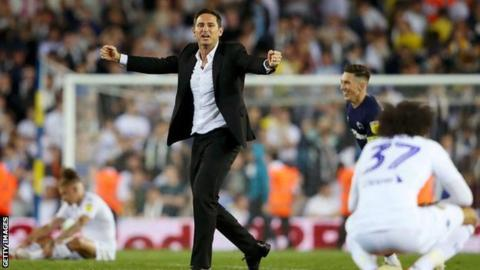 Frank Lampard sings Leeds chant about himself after play-off victory
