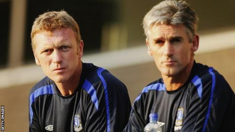 David Moyes and Alan Irvine during the pair's time at Everton