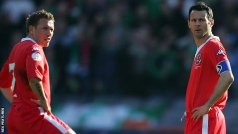 Craig Bellamy and Ryan Giggs were Wales team-mates