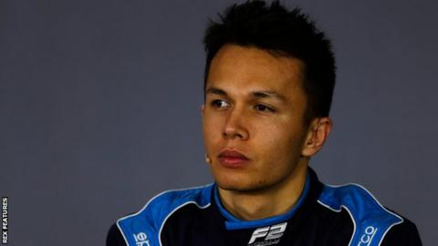 Thai Albon to drive for Toro Rosso