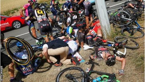 Tour de France crash, 6 July