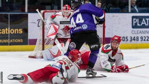 Glasgow v Cardiff Devils action last season