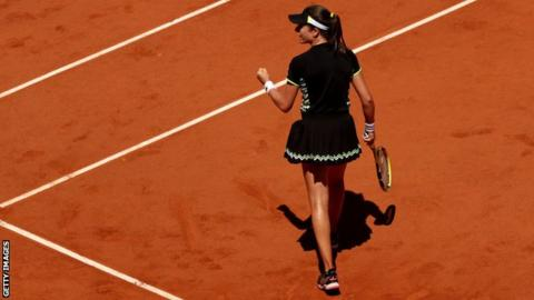 Britain's Konta powers into Roland Garros last eight