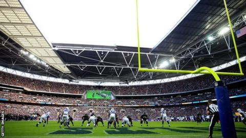 The Jacksonville Jaguars during a previous appearance at Wembley