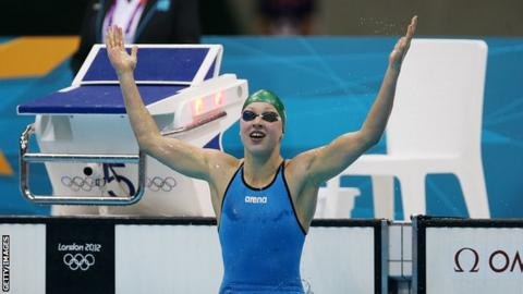 Ruta Meilutyte wins gold at London 2012