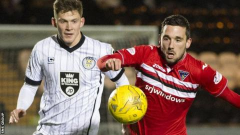 Nicky Clark (right) was the match-winner for Dunfermline