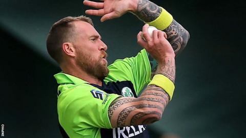 Ireland bowler John Mooney took four wickets at Waringstown