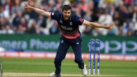 England pace bowler player Mark Wood
