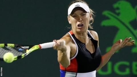 Wozniacki Stunned By Puig In Miami