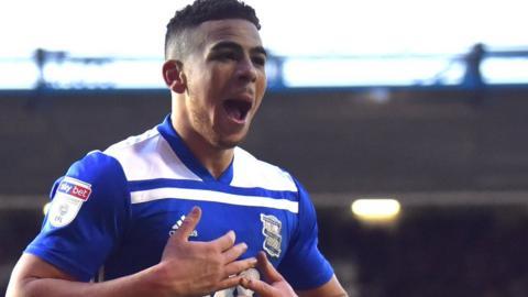 Che Adams in action for Birmingham City