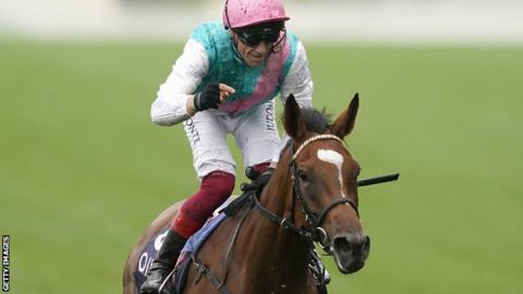Enable and jockey Frankie Dettori at Ascot