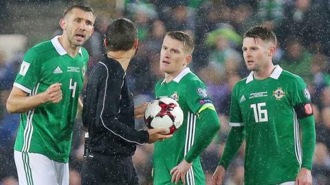 Northern Ireland lost 1-0 to Switzerland