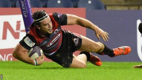 John Hardie scored the crucial try for Edinburgh