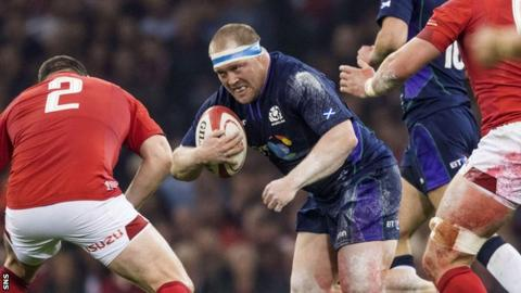 WP Nel in action for Scotland against Wales