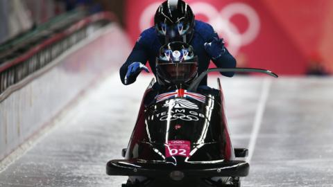 GB Bobsleigh team in action