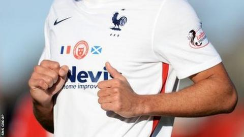 Hamilton Academicals, wearing the France away kit